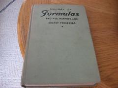 1932 1ST ED Manual of Formulas Recipes Methods Secret Processes POPULAR SCIENCE
