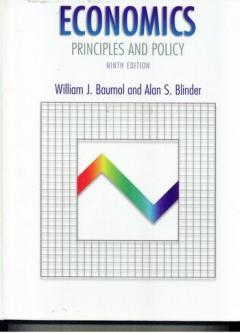 Economics. Principles and policy. Ninth edition