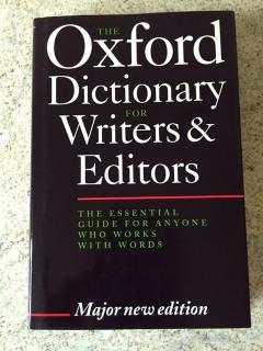 The Oxford Dictionary for Writers & Editors