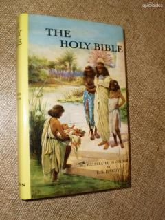 The Holy Bible - illustrated in colour by E.S.Hardy - Containing the old and new testaments.