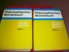 Philosophisches Worterbuch. Band 1-2.
