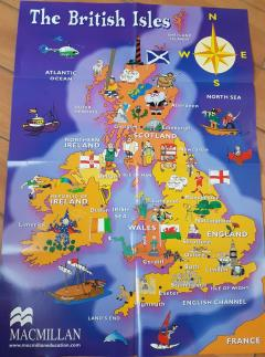 English classroom posters (The British Isles)