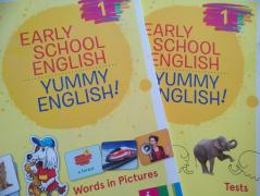 EARLY SCHOOL ENGLISH 1: YUMMY ENGLISH! Words in Pictures and Tests