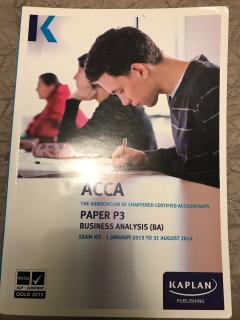Business analysis, ACCA P3 Exam kit