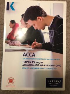 Advanced audit and assurance, ACCA P7 Exam kit