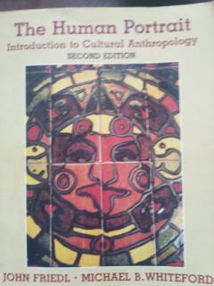 The Human Portrait. Introduction to Cultural Antropology. Second edition.
