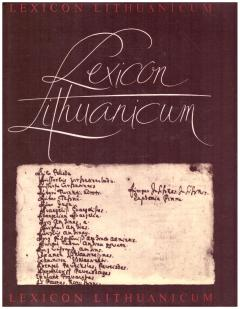 Lexicon Lithuanicum