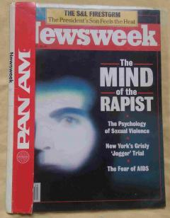 Newsweek, 1990 m., July 23, No. 4. The Mind of the Rapist