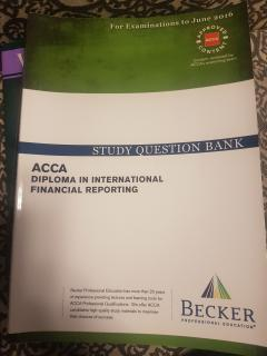 ACCA diploma in international financial reporting. Study question bank