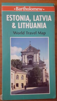 Estonia, Latvia & Lithuania. World travel map.