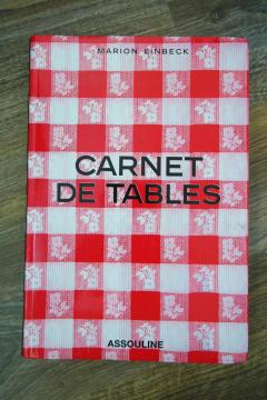 Carnet de tables (Broché)