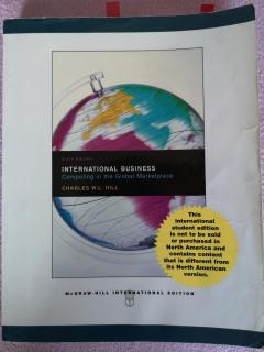 International Business - Competing in the Global Marketspace