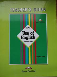 CPE Use of English Teacher's Guide