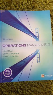 Operations Management 5th (fifth) Edition
