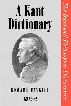 A Kant Dictionary