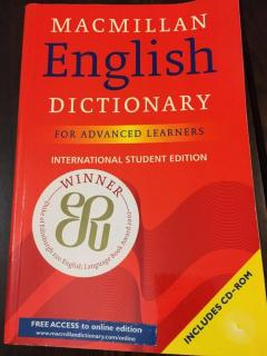 Macmillan English Dictionary for Advanced Learners. International Student Edition.