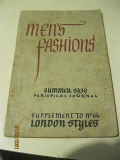Mans fashions - summer 1939