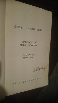 Old Lithuanian Songs
