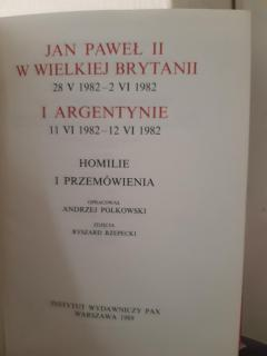 Jan Pawel 2 w UK i Argetine