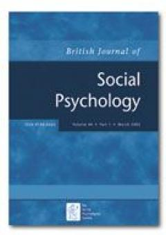 BRITISH JOURNAL OF SOCIAL PSYCHOLOGY