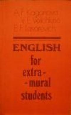 English for extra-mural students