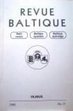 Revue Baltique : Organe de la Collaboration des Etats Baltes, 1998 m., Nr. 11