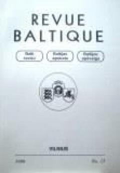 Revue Baltique : Organe de la Collaboration des Etats Baltes, 1999 m., Nr. 15